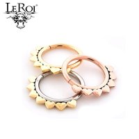 LeRoi 14kt Gold Jiya Seam Ring 18 Gauge 18g