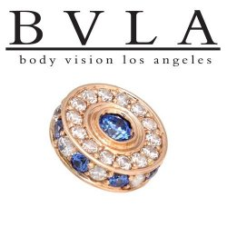 "BVLA 14Kt Gold ""Tobias"" Threaded End Dermal Top 18g 16g 14g 12g Body Vision Los Angeles"