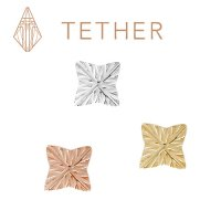 "Tether 14Kt Gold 4-Point Star Threadless End 18 Gauge 18g ""Press-fit"""