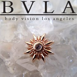"BVLA 14Kt Gold ""Compass"" Threadless End 18g 16g 14g ""Press-fit"""