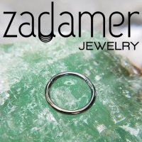 Zadamer Titanium Simple Clicker Septum Daith Helix Hinged Ring 16 Gauge 16g