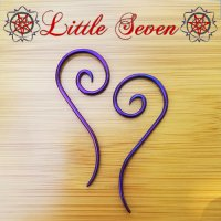 "Little Seven Niobium Small ""Nine\"" Spirals 12 Gauge 12g (Pair)"