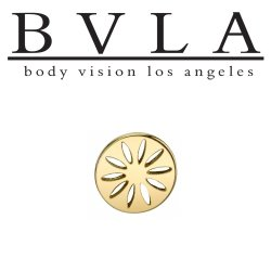 "BVLA 14Kt Gold ""Terrace"" Threaded End Dermal Top 18g 16g 14g 12g Body Vision Los Angeles"