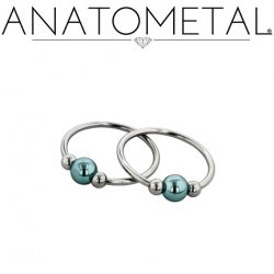 Anatometal Titanium Circular Barbell with Captive Bead 16 Gauge 16g