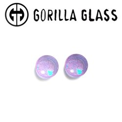 "Gorilla Glass Deluxe Dichroic Single Flare Plugs 0 Gauge to 1"" (Pair)"
