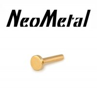 "18 gauge 18g NeoMetal Threadless Labret Post 14kt 14 Karat Gold ""Press-fit"""