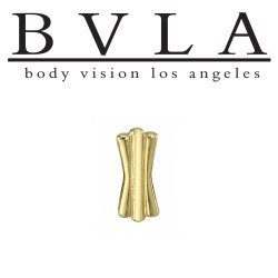 "BVLA 14kt Gold ""Art Deco"" Threaded End Dermal Top 18g 16g 14g 12g Body Vision Los Angeles"