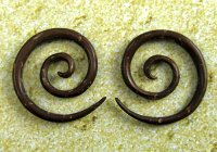 Organic Coconut Shell Super Spirals 12g-6g (Pair) 2mm-4mm
