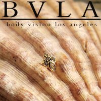 "BVLA 14kt Gold ""Mini Marquise Sarai\"" Threaded Gem End 18g 16g 14g 12g Body Vision Los Angeles"