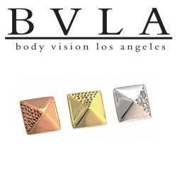 "BVLA 14kt Gold ""Pyramid"" Threadless End 18g 16g 14g ""Press-fit"""