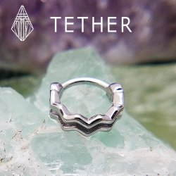 "Tether Jewelry Stainless Steel ""Pulse"" Clicker 14 Gauge 14g"