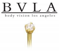 BVLA 14kt Yellow White Rose Gold Prong Genuine Diamond Gem Nostril Screw Nose Bone Nail Ring Stud 20g 18g Body Vision Los Angeles