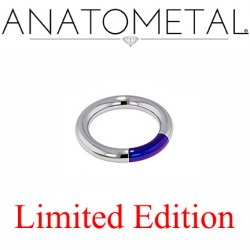 "Anatometal Titanium 5/8"" Segment Ring 8 Gauge 8g Limited Edition"