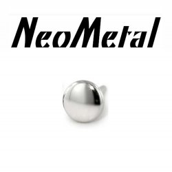 "16 Gauge 16g NeoMetal Threadless Titanium Disk 2.5mm ""Press-fit"""