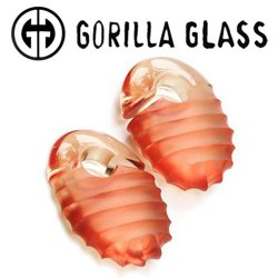 "Gorilla Glass Hive Ovoids 2.6oz Ear Weights 5/8"" And Up (Pair)"