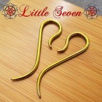 "Little Seven Niobium Small ""Nada\"" Hanging Designs 12 Gauge 12g (Pair)"