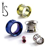 Industrial Strength Titanium Double Flared Eyelets 8g - 1""
