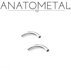 Anatometal Titanium Internally Threaded Curved Barbell (Shaft Only, No Ends) 10g 8g