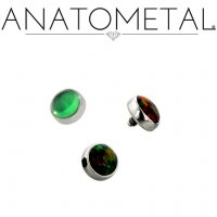 Anatometal Titanium Threaded 3mm Bezel-set Cabochon Gem End 18 Gauge 16 Gauge 14 Gauge 12 Gauge 18g 16g 14g 12g