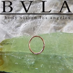 BVLA 14kt Gold Oval Seam Ring 18 gauge 18g Body Vision Los Angeles