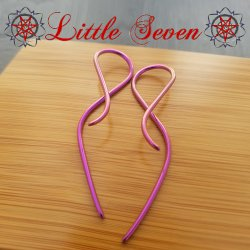 "Little Seven Niobium ""Goddess"" Hanging Twists 12 Gauge 12g (Pair)"