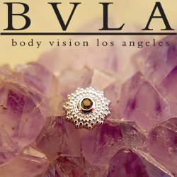 "BVLA 14Kt Gold ""Afghan"" Threaded End Dermal Top 18g 16g 14g 12g Body Vision Los Angeles"
