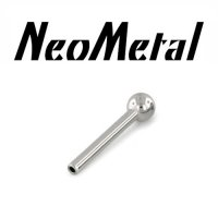 "18 Gauge 18g NeoMetal Threadless Titanium Straight Barbell Shaft 3/32"" Ball End ""Press-fit"""