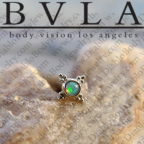 "BVLA 14kt Gold Mini ""Kandy"" Threadless End 18g 16g 14g ""Press-fit"" - Click Image to Close"