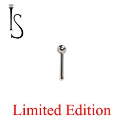 "Industrial Strength Stainless Surgical Steel Nose Bone Stud 1/4"" Length 3/32"" Ball 20 Gauge 20g Limited Edition"