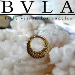 "BVLA 14kt Gold ""Quarencia"" Septum Clicker Hinged Ring 16 Gauge 16g Body Vision Los Angeles"