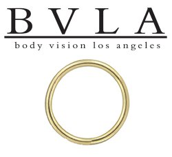 BVLA 14kt Gold Seam Ring 12 Gauge 12g Body Vision Los Angeles