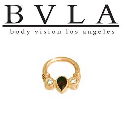 "BVLA ""Classic Samar"" 14kt Gold Septum Clicker 14g Body Vision Los Angeles"