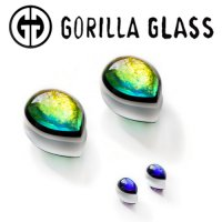"Gorilla Glass Run The Jewels Shield Ear Weights 1/2"" to 1 3/8"" (Pair)"