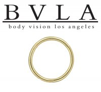 BVLA 14kt Gold Seam Ring 14g Body Vision Los Angeles