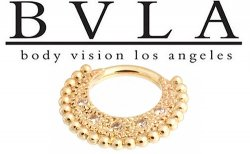 BVLA Inara 14kt Gold Septum Ring Clicker 14 Gauge 14g Body Vision Los Angeles