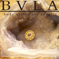 "BVLA 14kt Gold ""Bandera\"" Threaded End Dermal Top 18g 16g 14g 12g Body Vision Los Angeles"