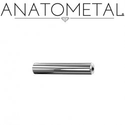 00 Gauge 00g Anatometal Surgical Stainless Steel Internally Threaded Straight Barbell (Shaft Only, No Ends)