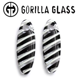 "Gorilla Glass Linear Cocoons 2.1oz Ear Weights 1/2"" And Up (Pair)"