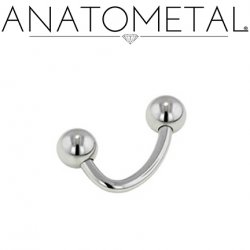 Anatometal Surgical Stainless Steel J-Curve Barbell 16g 14g 12g