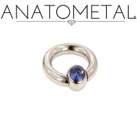 Anatometal Surgical Steel Gem Captive Bead Ball Closure Ring 4 Gauge 4g