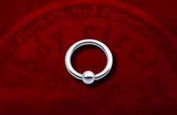 "Body Circle Surgical Stainless Steel Captive Bead Ball Closure 1/2"" Ring 14 Gauge 14g Sale!"