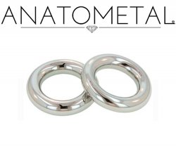 Anatometal Surgical Stainless Steel Segment Seam Continuous Ring 8g 8 Gauge