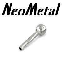"16 Gauge 16g NeoMetal Threadless Titanium Straight Barbell Shaft 1/8"" Fixed Ball End ""Press-fit"""