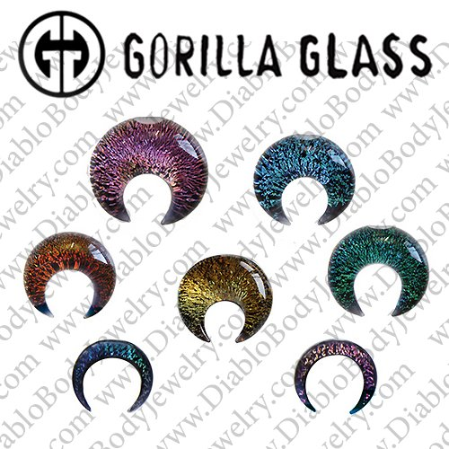 "Gorilla Glass Dichroic Septum Pincher 8 Gauge to 1/2"" - Click Image to Close"