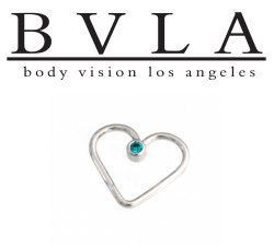 "BVLA 14kt Gold ""Heartbreaker"" Seam Daith Ring 18 gauge 18g Body Vision Los Angeles"