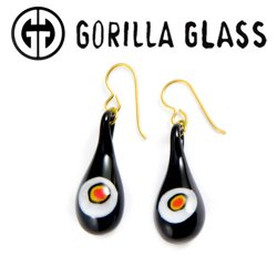Gorilla Glass Millefiori Earrings (Pair)