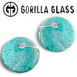 "Gorilla Glass Deluxe Dichroic Eclipse 4.2oz Ear Weights 7/8"" And Up (Pair)"