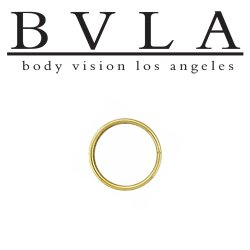 BVLA 14kt Gold Seam Ring 18g Body Vision Los Angeles