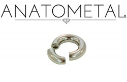 Anatometal Surgical Stainless Steel Segment Seam Continuous Ring 10g 10 Gauge