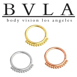 BVLA 14kt Gold Latchmi Nose Nostril Septum Ring 18g Body Vision Los Angeles